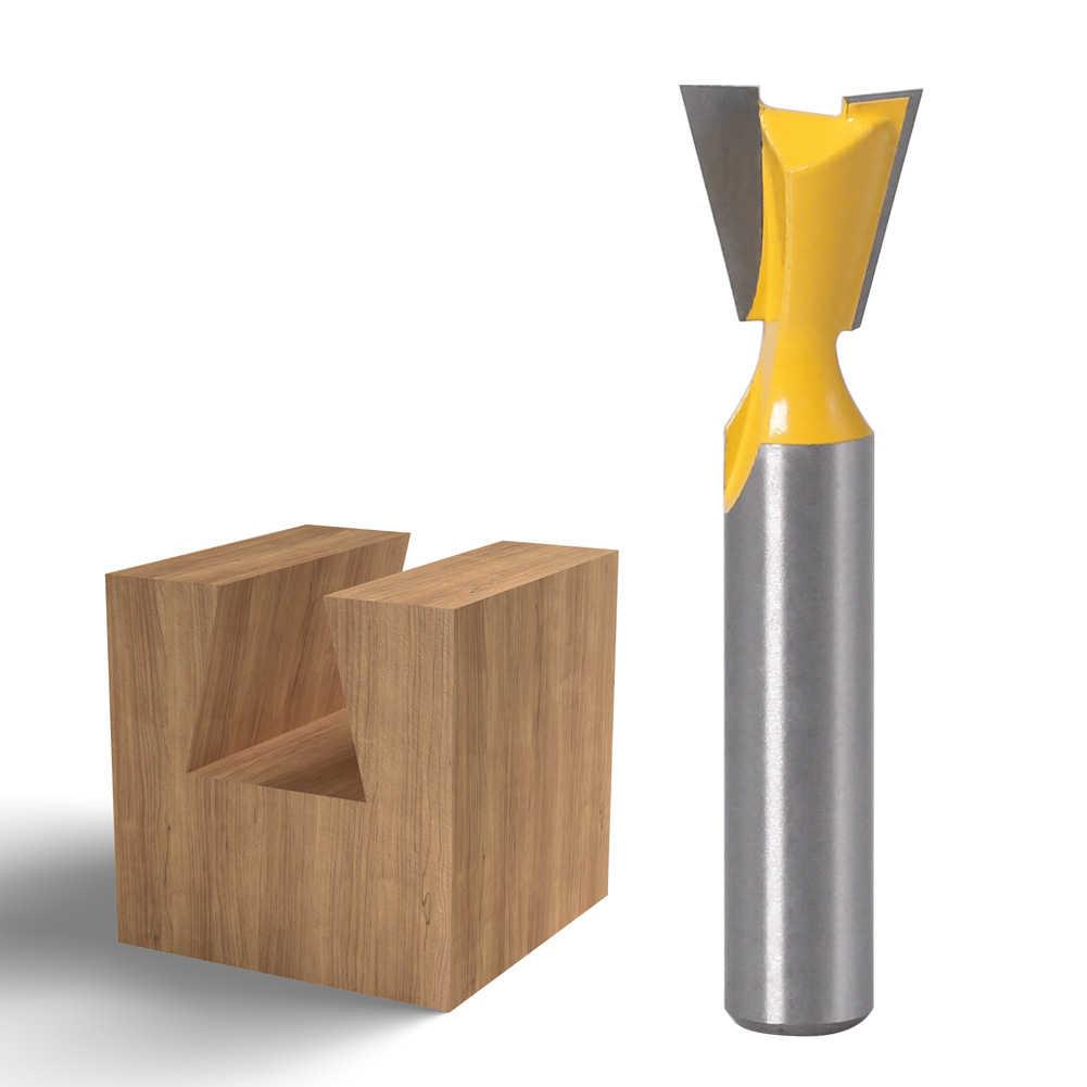 1 pièces 8mm tige Grade tige industrielle queue d'aronde routeur Bit hirondelle queue travail du bois gravure outils de fraisage pour outil à main coupe-bois