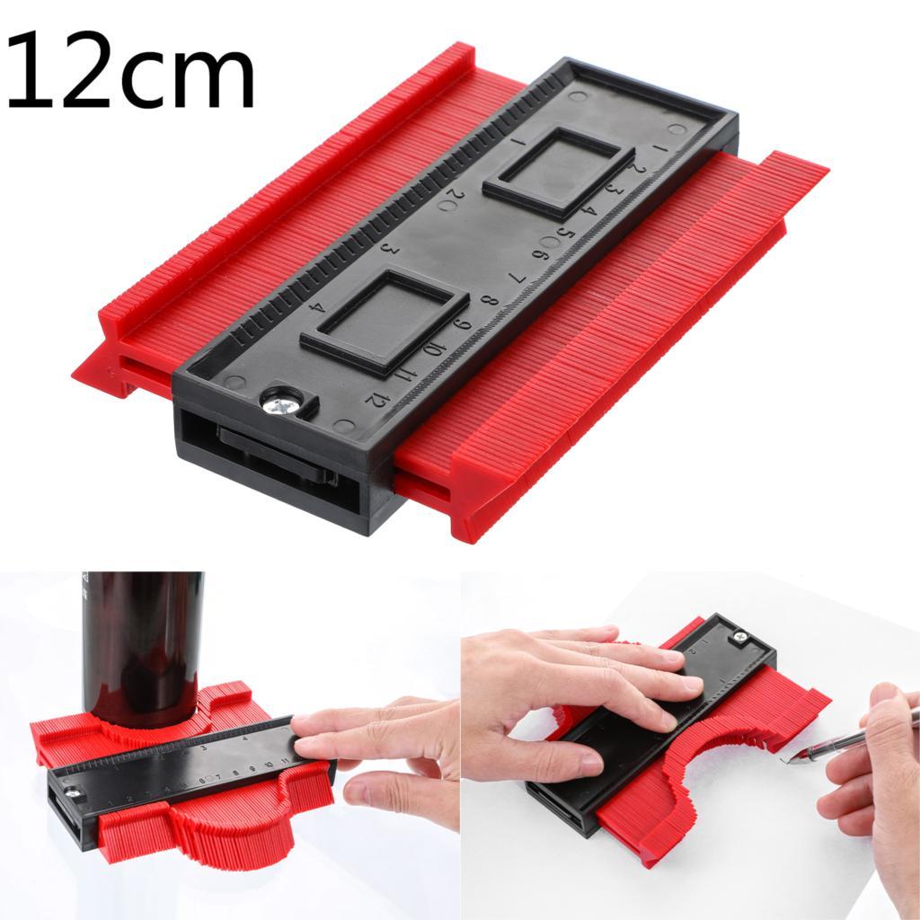 Многофункциональный контурный профиль калибровочный плиточный ламинат кромка формирующая деревянная измерительная линейка ABS контурный манометр Дубликатор 5/10 дюймов - Цвет: 12cm