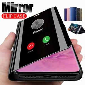 Смарт флип-чехол с зеркалом для samsung Galaxy S11 A51 A71 S10 S9 S8 плюс S7 Edge кожаный чехол для samsung A10 A30 A50 A6 A8 чехол