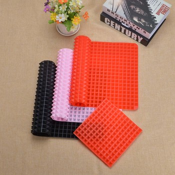 3 Colors Silicone Baking Mat In Non Toxic And High Temperature Resistance For Chocolate And Jelly Pudding