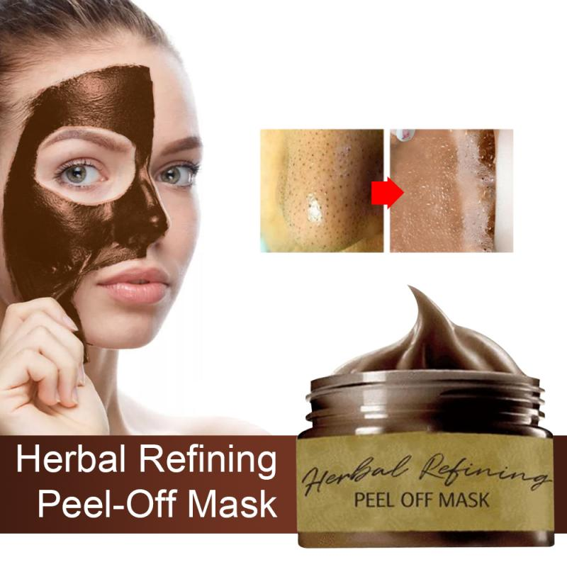 60g Herbal Peel Off Facial Mask Remove Blackhead Acne Nose Face Mask Deep Cleansing Shrink Pores Tear off Mask Skin Care TSLM1| |   - AliExpress