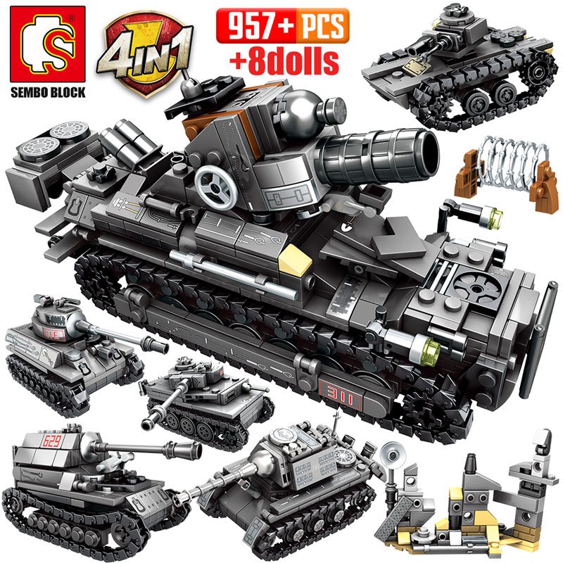 437Pcs Police SWAT Building Blocks Command Vehicle Uniforms Fit for Lego Kid Toy