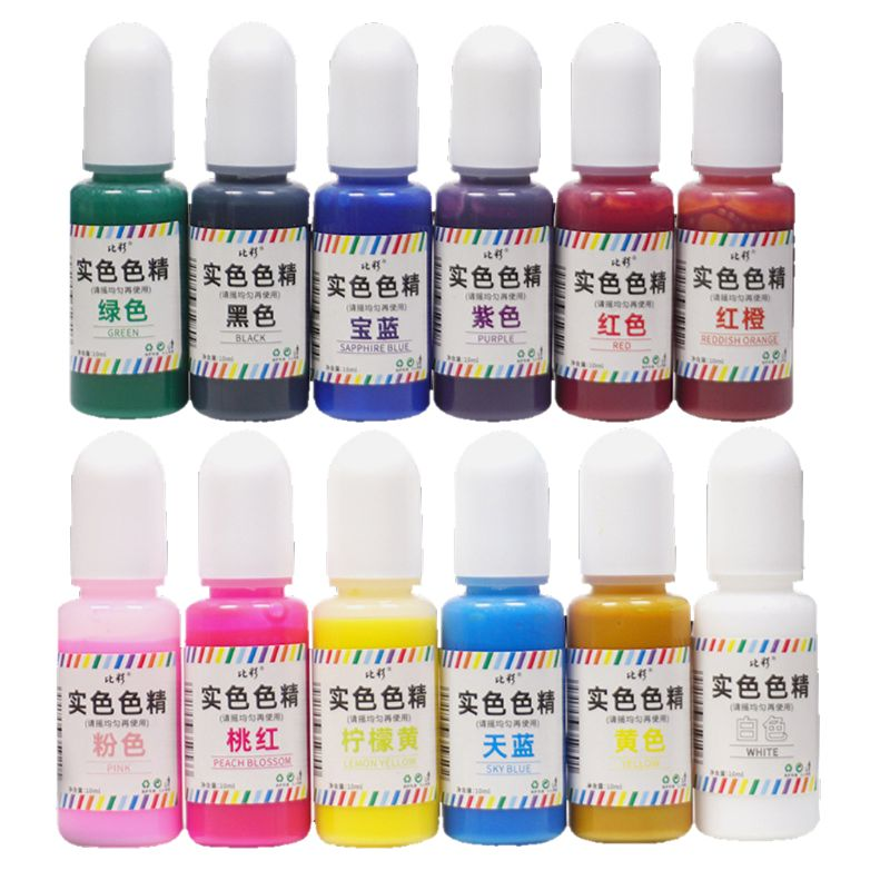 10ml UV Resin Solid Pigment Liquid Dye 12 Color DIY Resin Jewelry Making Crafts