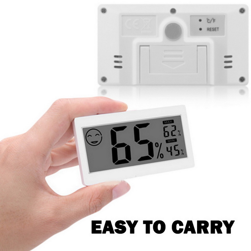 1pc Mini LCD Digital Indoor Thermometer Hygrometer Room Temperature Humidity Monitor Gauge Thermo-Hygrometer DC206