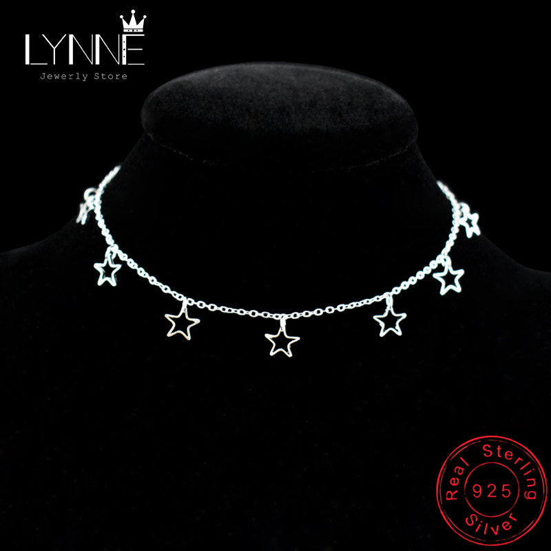 New Fashion Hollow Star&Heart Pendant Foot Anklet Chain 925 Sterling Silver Ladies Beach Anklets Bracelet For Women Jewelry Gift
