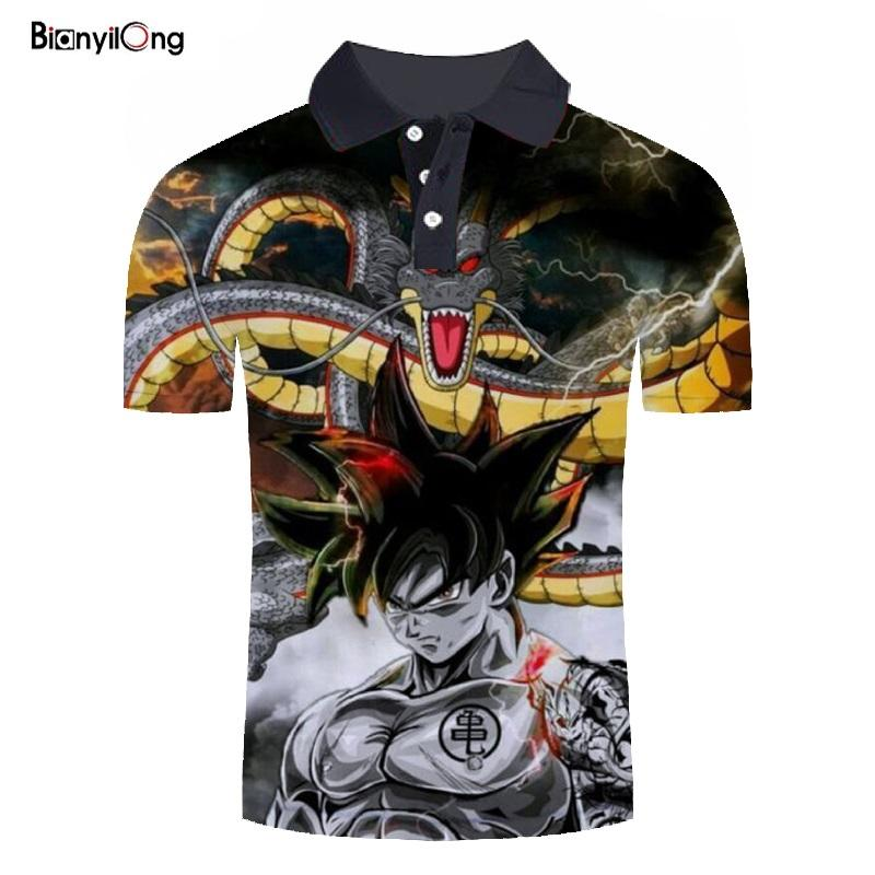 2019 new clothing Dragon Ball Z 3d printed   polo   mens   polo   shirts fashion   polos   para hombre casual camiseta masculina tops&tees