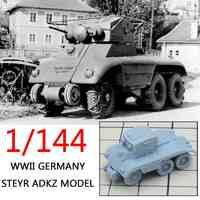 1:144 4D Resin DIY Assemble Military Tank Kits German World War II Model Puzzle Assembling Car Vehicle Sand Table Toys For kids