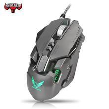 Ratón con cable para juegos por cable de 3200DPI, ratón con cable de definición macro, ajustable, LED para Gamer profesional, ordenador, PC, PUBG