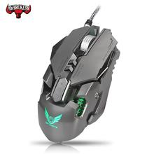 משחקי Wired עכבר 3200DPI מתכוונן משקל הגדרת מאקרו Wired עכבר מקצועי בדרגה גיימר LED עבור מחשב PC PUBG