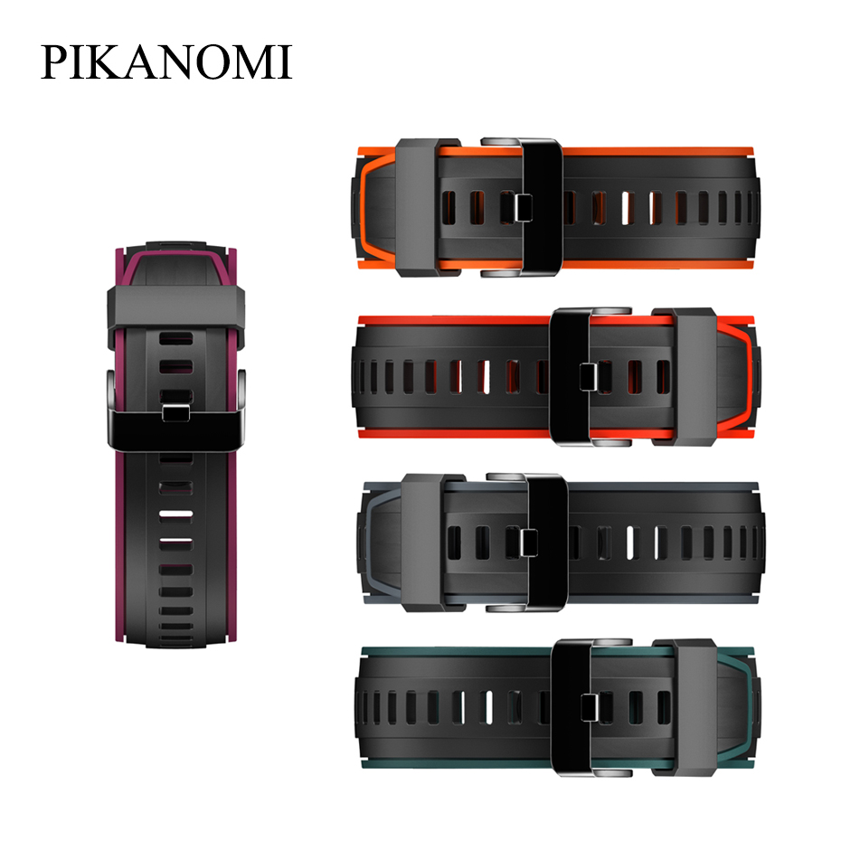 Smart Accessories Smart Watch Silicone Strap For SN80 Smart Watch Replacement Strap Double Color