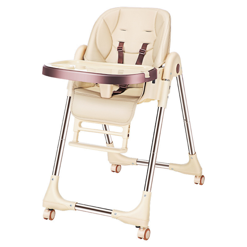 Luxury Quality C-5 Safety Protection Eat Feed Child  Kid Chair Multifunctional Adjustable Plastic With Wheel Furniture Baby Seat