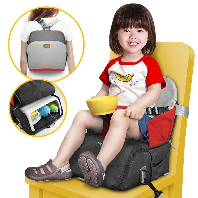 2 en 1 portable voyage booster siège enfant en bas âge manger manger manger chaise couche maman sac enfants chaise haute portable bébé siège couverture