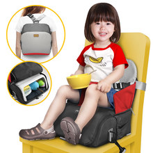 цена на 2 in 1 portable travel booster seat toddler eating feeding dining chair diaper mommy bag kids highchair portable baby seat cover