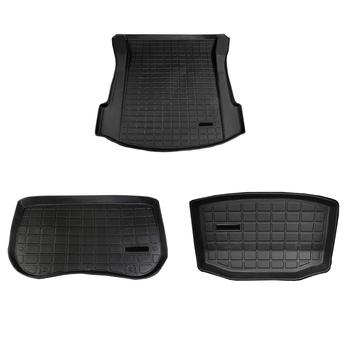 For Tesla Model 3 Trunk Mats Customized Car Rear Trunk Storage Mat Cargo Tray Trunk Waterproof Protective Pads Mat Compatible фото