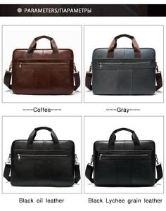Image 2 - WESTAL mens briefcase bag mens genuine leather laptop bag business tote for document office portable laptop shoulder bag  8523