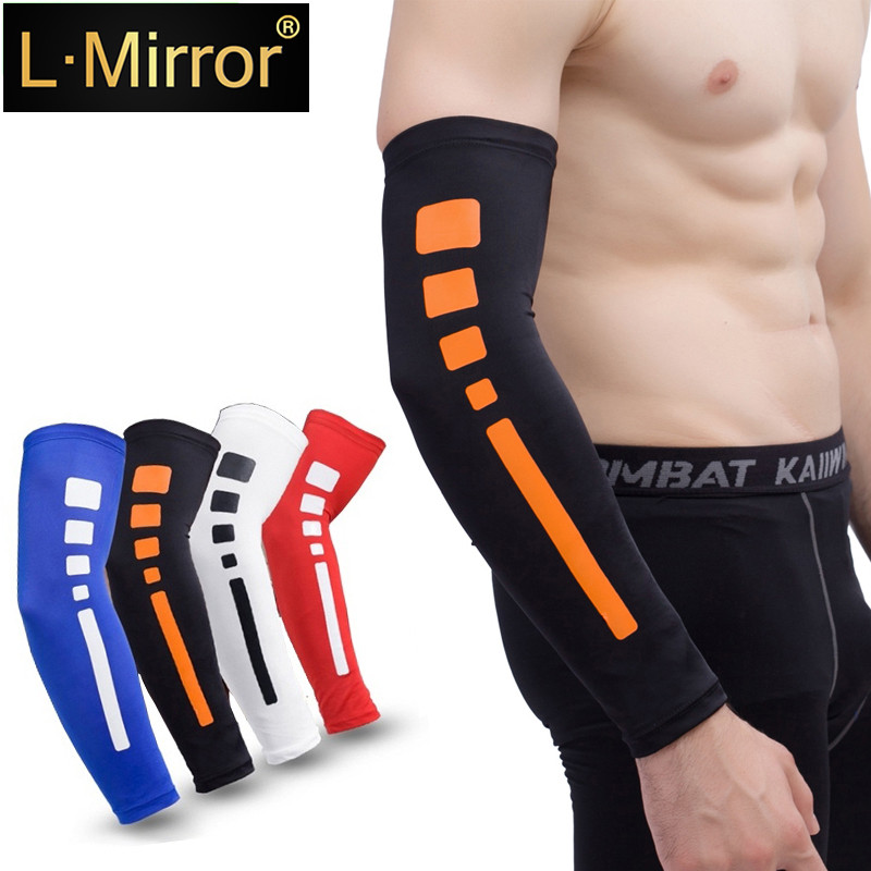 L.Mirror 1Pcs Silk UV-Protection Unisex Cooling Arm Sleeves For Outdoor Sports (Driving/Riding/Basketball/Hiking/Golf)