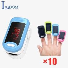 Loodom 10 Pcs LED Pulse Oximeter  Fingertip  Oximetro de pulso Finger Pulse Oximeter Oxygen Monitor oximetro de dedo тонометр