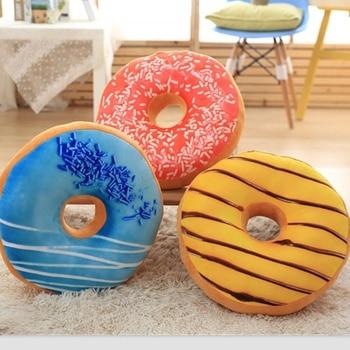 Super suave simulación creativa donut Chocolate abrazo cojín Oficina almohada para el día del día Regalo de Cumpleaños ropa de cama