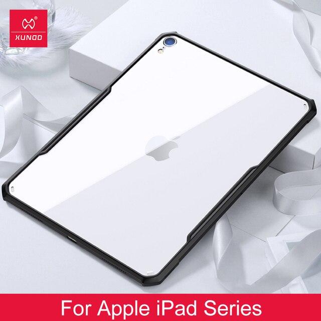 IPad 2018/2020 프로 11 12.9 2020 공기 2 9.7 3 10.5 10.2 7th iPad 미니 1 2 3 4 5 XUNDD 아크릴 + TPU 보호 케이스