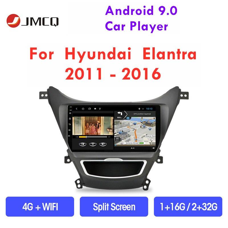 JMCQ автомобильное радио Android 9,0 для Hyundai Elantra Avante I35 2011-2016 мультимедийный плеер GPS навигация плавающее окно Сплит экран