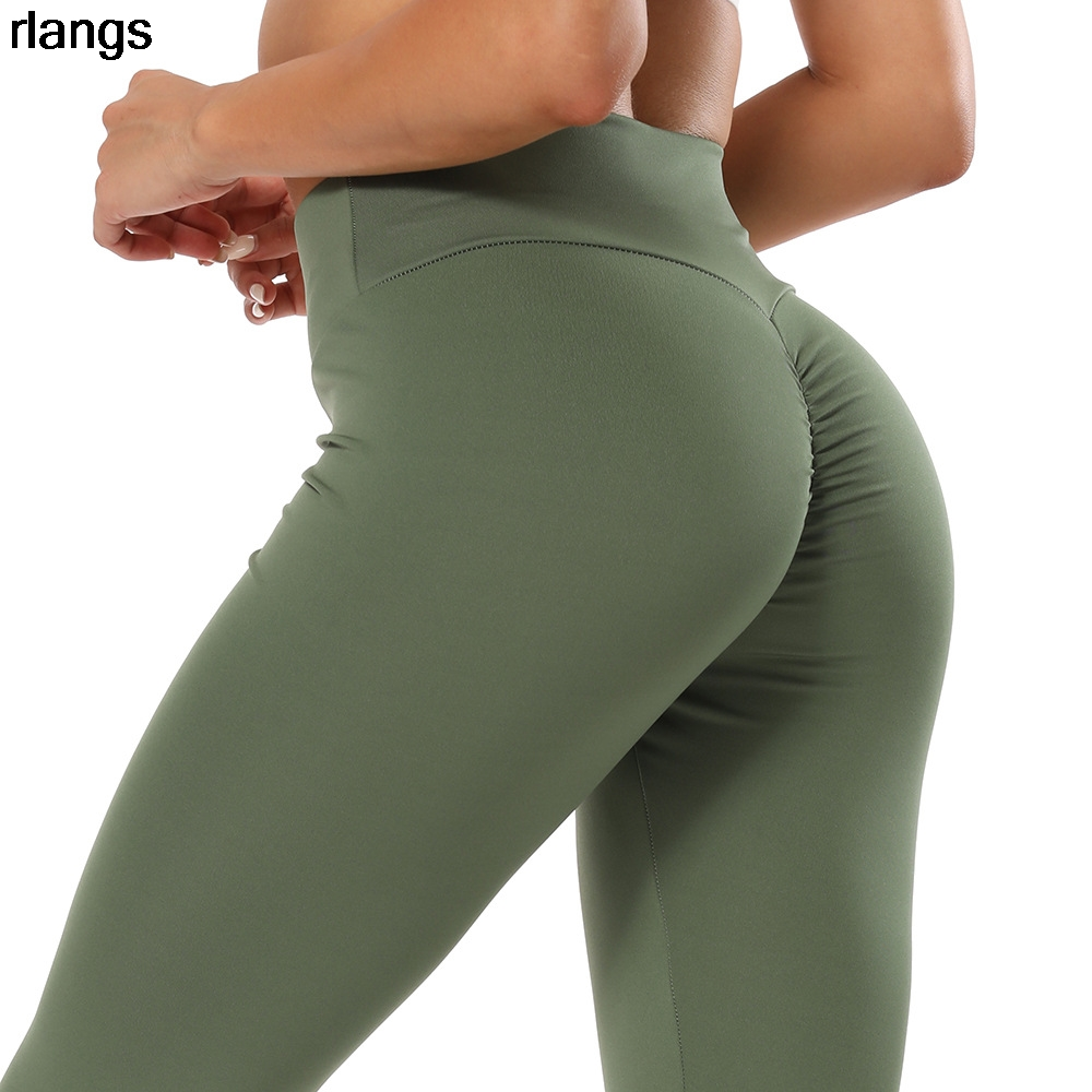 Women's Solid Color Hip Lifting High Waist Peach Buttocks Sweat-absorbent Fitness Pants Sports and Casual Leggings