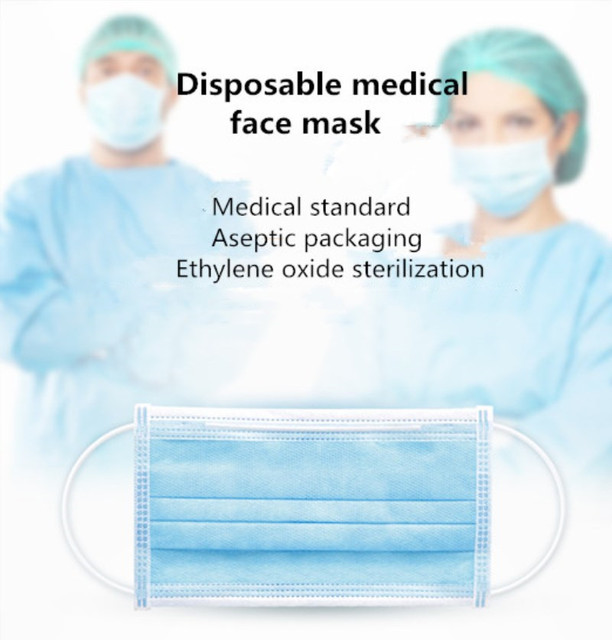 10/50pcs Medical 3 Layer Non Woven Disposable Face Mask Men Women Cotton Anti Dust Mask Mouth Windproof Proof Flu Face Masks 3
