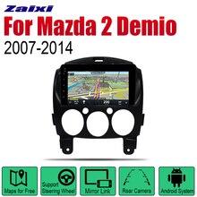 ZaiXi Android Car Radio Stereo GPS Navigation For Mazda 2 Demio 2007~2014 Bluetooth wifi 2din Multimedia