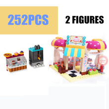 New 10165 Heartlake Friends Cake Shop Series Friends Figures City Model Building Blocks Bricks Girl Diy Toys Kid Gift Birthday new playground series fits legoings creators city streetview set house figures model building kit bricks blocks diy gift kid toy