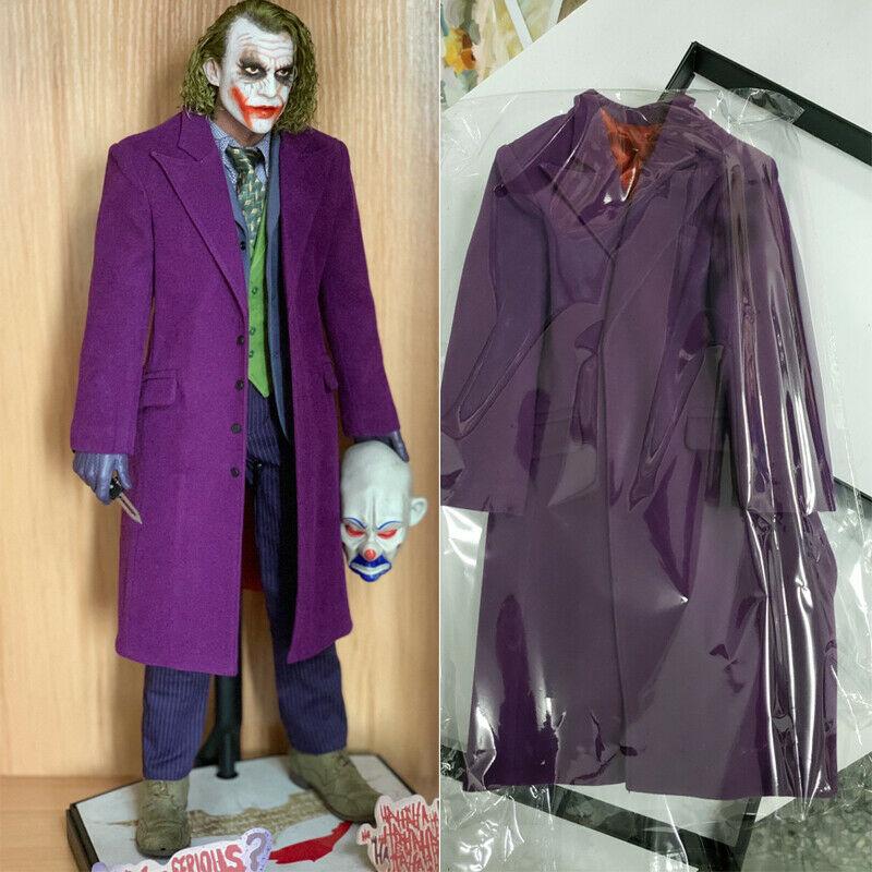 DAFTOYS 1//4  Purple Coat Overcoat Clothing For Hot Toys 1//4 Joker New