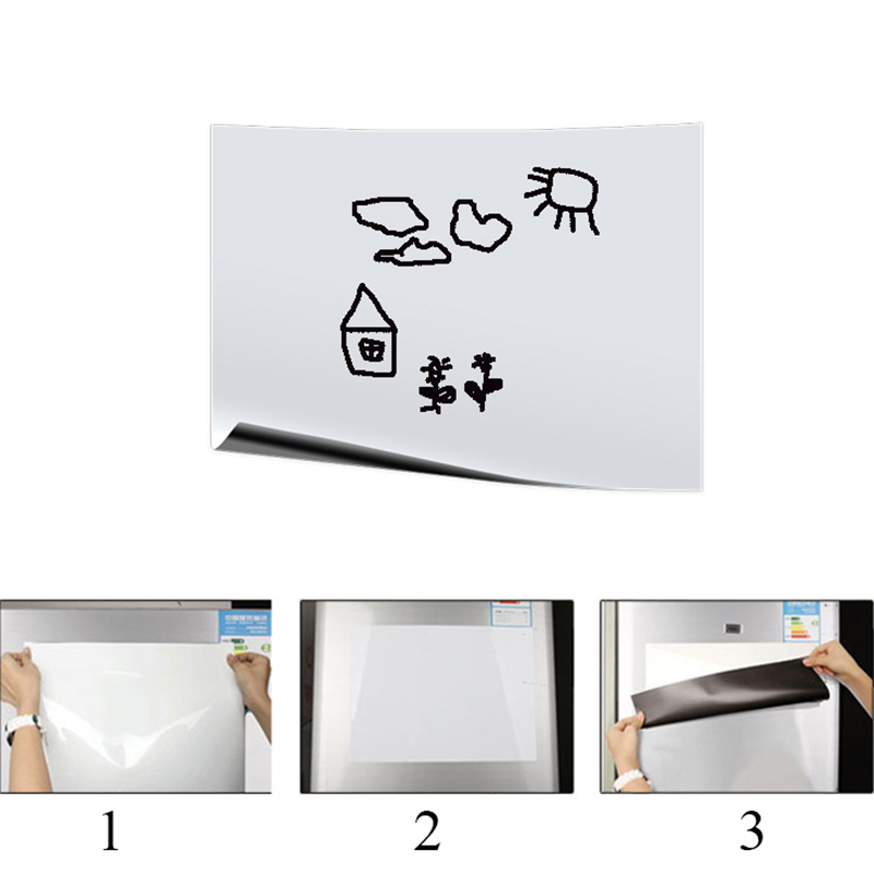 A5 Small Portable Magnetic Whiteboard For Fridge Magnets Vinyl Dry Wipe White Board Marker Record Message Board Remind Memo Pad