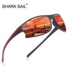 Поляризованные солнцезащитные очки SHARK SAIL, фирменный дизайн, мужские очки для вождения автомобиля, универсальные зеркальные очки классического дизайна