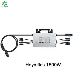 Hoymiles 1500 Вт микро солнечный инвертор MI-1500 двойной MPPT на сетке галстук инвертор инверсор 16-60VDC до 230VAC для 4*375 панели солнечных батарей