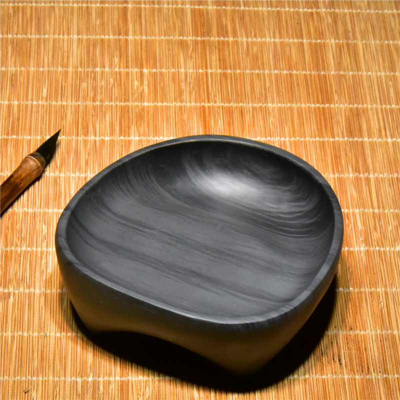 Chinese Four Treasures Of The Study China Inkstone Grinding Inkwell Made of Natural Stone Triple legs Ink Slab She Yan Tai