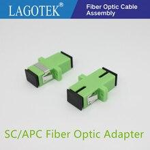 50/100/200/500PCS SC APC Simplex Single Modeอะแดปเตอร์ไฟเบอร์ออปติกSC Optical Fiber coupler SC APC Fiberหน้าแปลนSC Connector