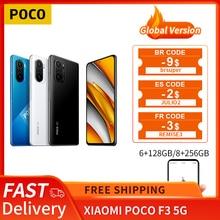 "Versão global poco f3 5g xiaomi smartphone 6gb 128gb/8gb 256gb snapdragon 870 octa núcleo 6.67 ""120hz e4 amoled display"