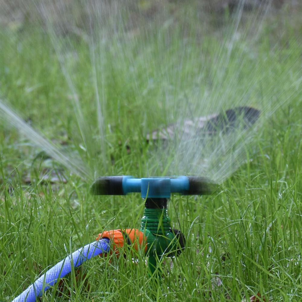 Adjustable 3-Arm Rotating Sprinkler Nozzle For 1/2