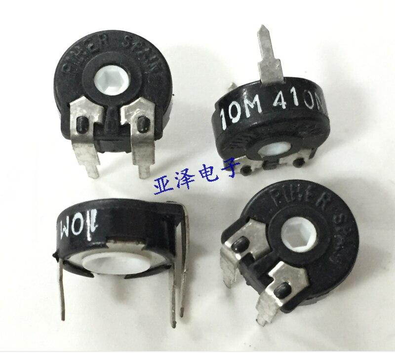 5 pièces importation potentiomètre réglable dorigine PT10 PIHER espagne-10 M résistance réglable horizontale trou Hexagonal