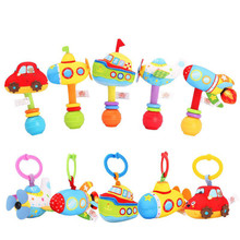 Infant Toy Rattle Bed-Bell-Toys Pull-Ring Vibration Stretching Plush-Hand-Shake Baby