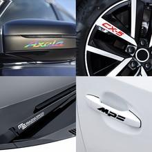 Car 4PCS Decor Door Handle Decals Wiper Stickers For mazda CX 4 CX 7 CX 9 BM BN MX 3 MX 5 BL GJ GL 2013 2020 demio MPS 3 6 MS