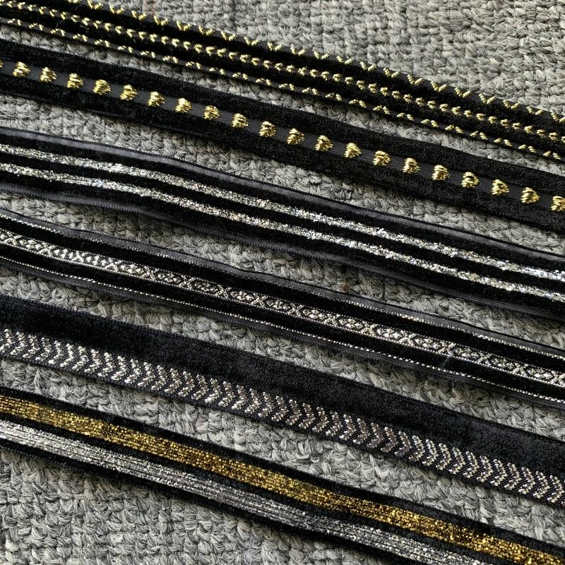 5 ярдов 14-18 мм с лентой из бархата черного цвета ручной работы для шитья стеганых, бант, поделки рождественские ленты вечерние украшения