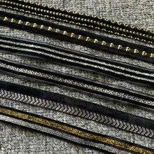 5 jardas 14-18mm fita de veludo preto artesanal costura para clipes bowknot artesanato decoração de festa de fita de natal