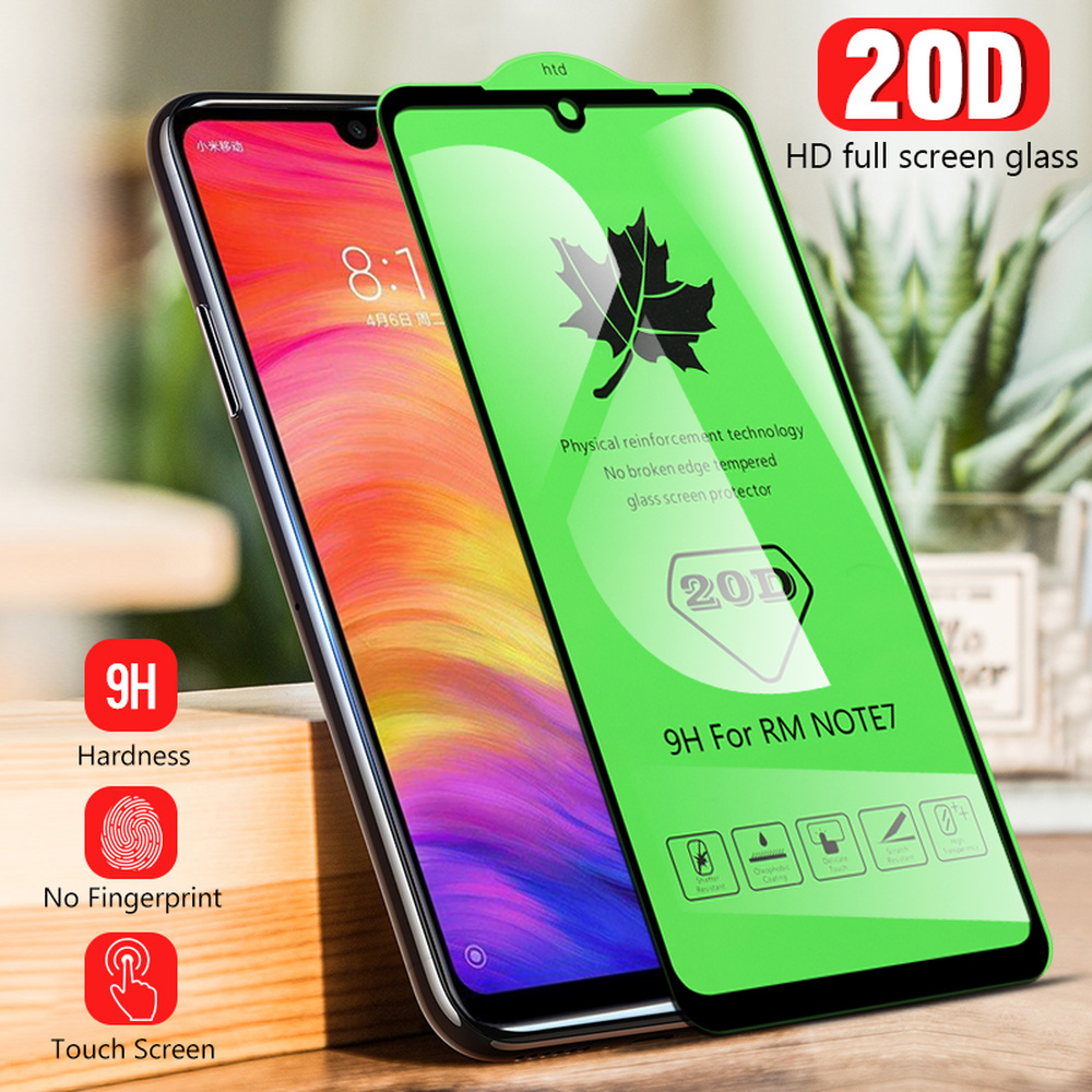 20D Full Cover Tempered Glass For Xiaomi Redmi Note 7 K20 Pro 7 7A For Xiaomi 8 9 SE Lite For Mi A3 F1 9T Glass Screen Protector