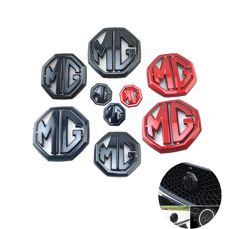 3pcs/set For MG 6 Car Sticker Grille Rear Trunk Emblem Steering Wheel Badge Decal For MG 6 Logo Car Accessories