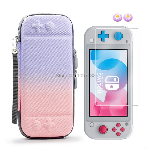 Portable Hard Shell Bag Case for Nintend Switch Lite Temeperd Glass Screen Protector for Nintendo Switch Lite Accessories