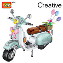 Blocks Technic Assembly-Toys Bricks Car-Model Creator Loz Mini Children Educational Plastic