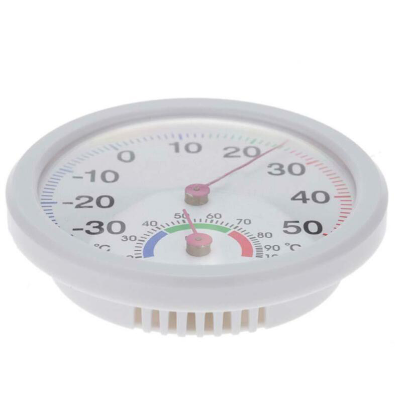 Indoor Outdoor Hygrometer Humidity Temperature Gauge Thermometer Wall Mounted For Garden Classroom Laboratory