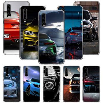 Blue white black For BMW Case for Huawei P20 P30 P40 P10 Mate 30 10 20 Lite Pro P Smart Z 2018 2019 Pattern Phone Coque Cover image
