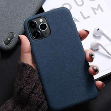 KISSCASE Pure Lightweight Case For iPhone XS Max Cover Ultra Thin Soft Cloth Shell For iPhone 6S 6 7 8 Plus X XR 11 Pro Max Case