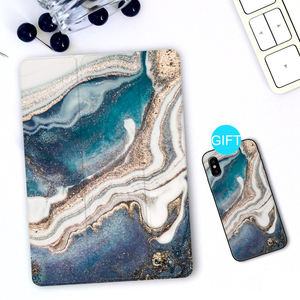 Image 1 - Trifold Case for iPad Air 3 2 2018 9.7 inch Mini 5 4 3 2 Flowing Sand Smart cover Case for ipad pro 12.9 2020 pro 11 10.5 9.7