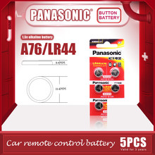 PANASONIC – piles alcalines originales LR44 A76 1.5V, 5 pièces/lot, AG13 SR1154 357, pile bouton 0% Hg pour calculatrice